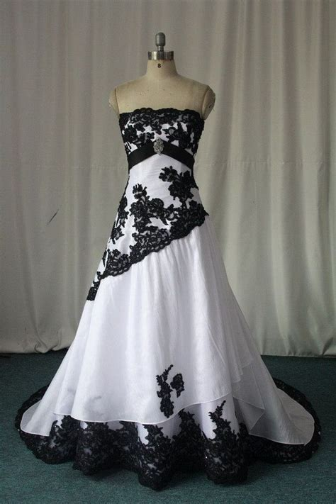 black and white gothic wedding dresses 2016 custom made