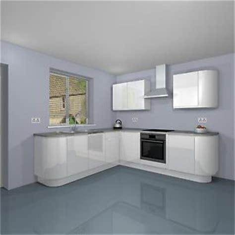 white gloss curved kitchen units curved designer handleless kitchen unit set soft
