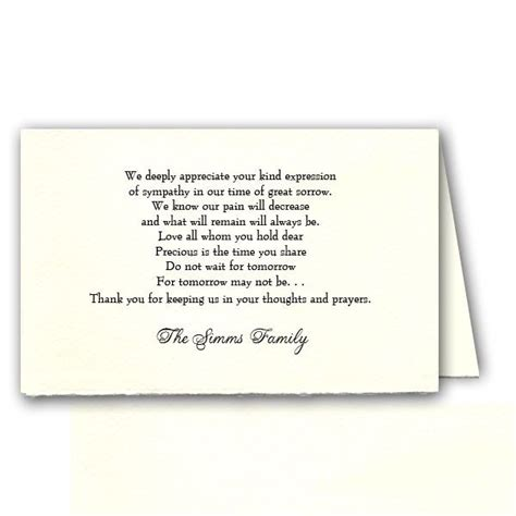 funeral acknowledgement cards template funeral program thank you helperpartners