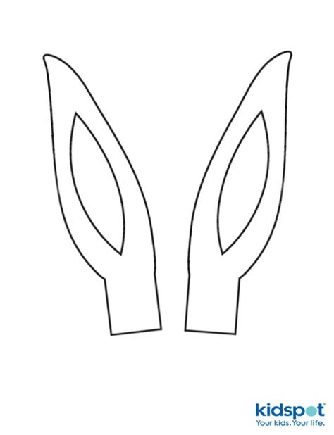 easter bunny ears coloring pages and print for
