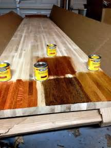 diy kitchen remodel staining butcher block countertops stillwater story how to stain butcher block countertops