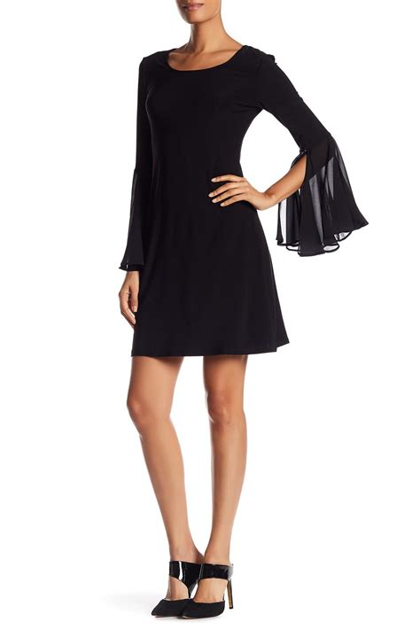 Chaterine Dress catherine malandrino scoop neck bell sleeve dress in
