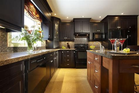 dark wood kitchens walnut color traditional kitchen design kitchen design ideas blog