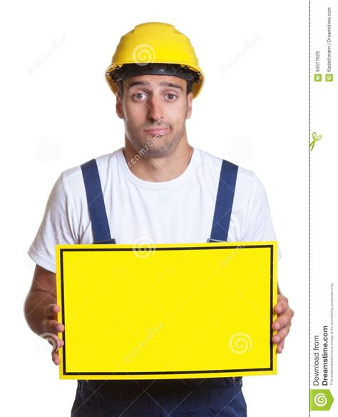 construction workers haircut construction sign royalty free stock photography
