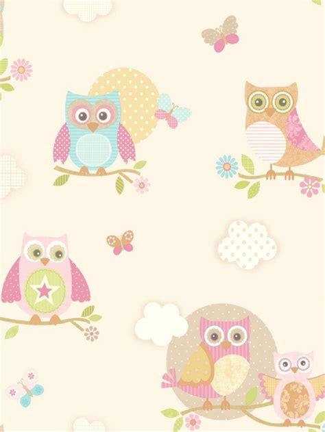 owl bedroom wallpaper pastel owls ivory wallpaper adalie new bedroom