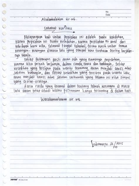 contoh surat untuk teman just4udakar