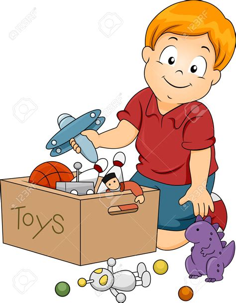 Kid Toys Box 10 clipart children pencil and in color clipart