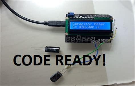 arduino capasitor meter arduino capacitor meter electronics freak