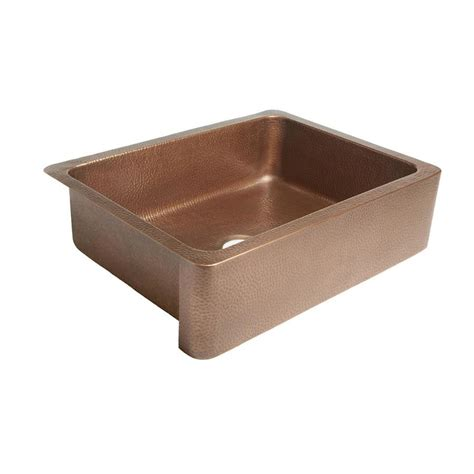 Copper Apron Kitchen Sink Shop Sinkology Courbet 30 In X 22 In Antique Copper Single Basin Copper Apron Front Farmhouse