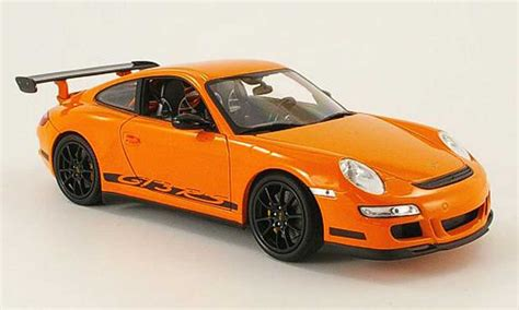 porsche orange porsche 997 gt3 rs miniature orange welly 1 18 voiture