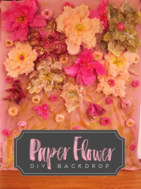 How To Make Paper Flower Backdrop - paper flower diy backdrop