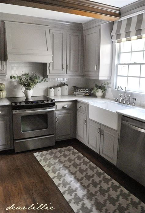 Gray Cabinet Kitchens Dear Lillie Darker Gray Cabinets And Our Marble Review