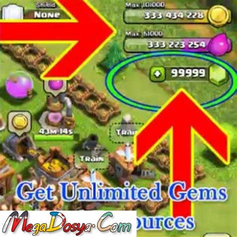 clash of clans unlimited gems apk unlimited gems clash of clans hile apk mod megadosya