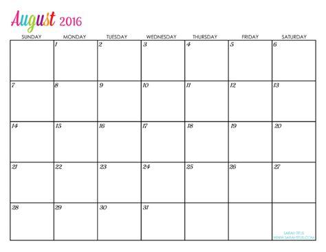 free printable august 2015 planner custom editable free printable 2016 calendars sarah titus
