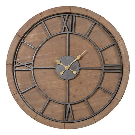 wooden wall clock solid wood wall clock by the orchard notonthehighstreet com