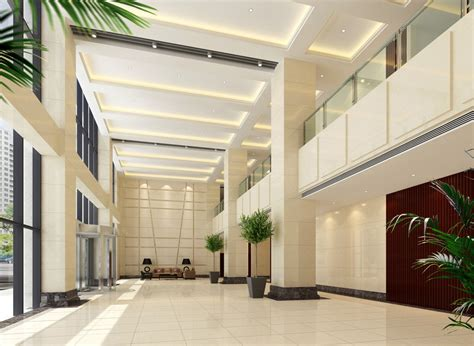 Bld Interior Design by Office Building Lobby Indoor Green Design