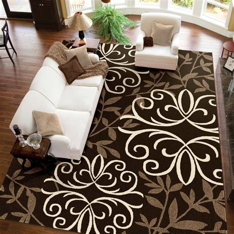 Better Homes And Gardens Iron Fleur Area Rug by Iron Fleur Area Rug 5 X 7 Chocolate Brown Carpet