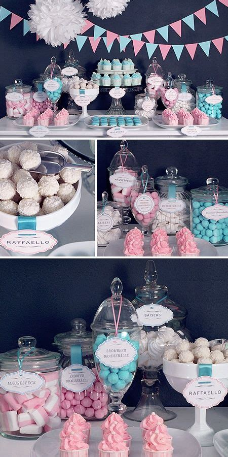 pink and blue buffet 31 and sweet gender reveal ideas shelterness