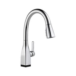 shop delta mateo touch2o chrome 1 handle pull down touch 9183t dst mateo single handle pull down kitchen faucet