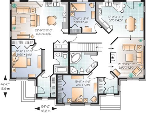 house plans with inlaw apartments house plan with in suite 21766dr 1st floor master