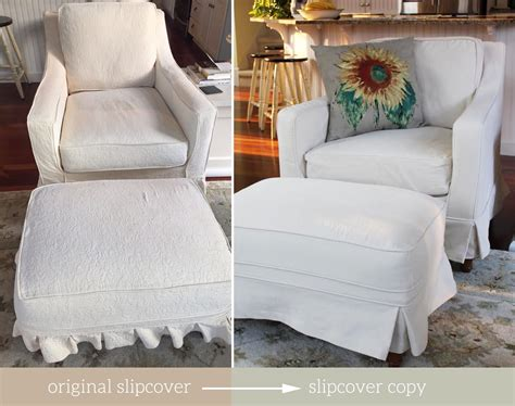 armchair and ottoman slipcovers the slipcover maker custom slipcovers tailored to fit