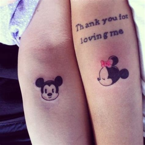mickey mouse tattoo for couples tattoos for couples mickey mouse images styles fav