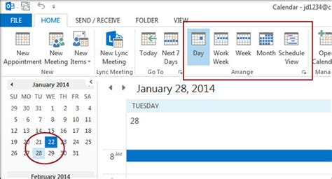 How To See Calendar Scheduling A Meeting In The Outlook 2013 Calendar Cumc It