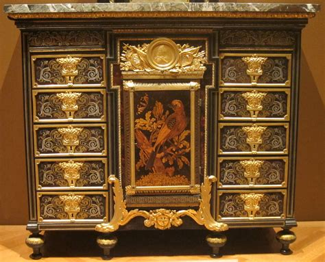 file cabinet c 1690 metal and tortoise shell