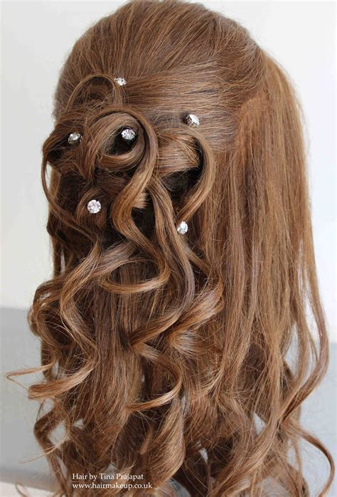 debs hairstyles half up half down half up half down hair ideas for brides and special
