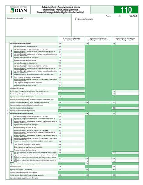declaracion de renta 2016 salario minimo colombia 2016 declaracion de renta a 241 o 2011 f 110 nuevo formulario dian 2012