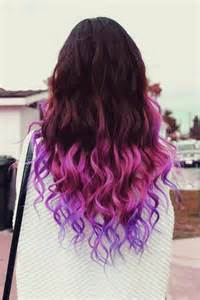 colored tips purple and pink dip dyed hair hair colors ideas
