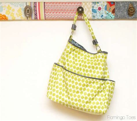 easy tote bag pattern with pockets easy diy pocket tote tutorial