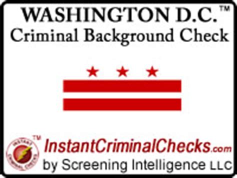 Washington Criminal Background Check Washington Dc Criminal Background Checks Employment