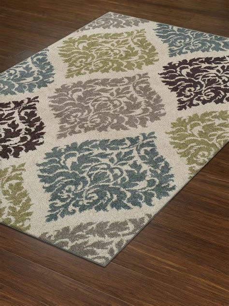 Modern Rug 8x10 Modern Contemporary Rug Large 8x10 8 2 Quot X10 Ivory Teal Brown Damask Carpet Transitional Rugs