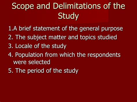 scope and limitation of the study sle thesis scope and delimitation in thesis 28 images