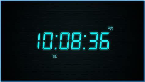 digital alarm clock screensaver windows 7 free