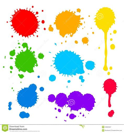 vector pattern with colorful blobs splats and blobs of colored paint stock vector