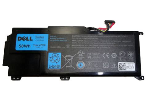 Baterai Original Dell Xps 14z 14z L412x 14z L412z V79y0 4 Cell Black new v 233 ritable original prix bas dell v79y0 0ymyf6 58wh 14
