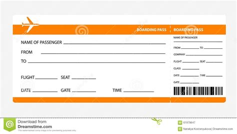 Plane Ticket Template Beepmunk Customizable Pass Template