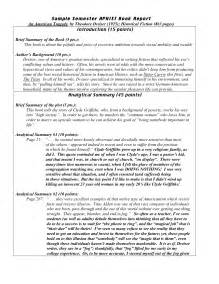 Examples Of Book Reports College Report Writing