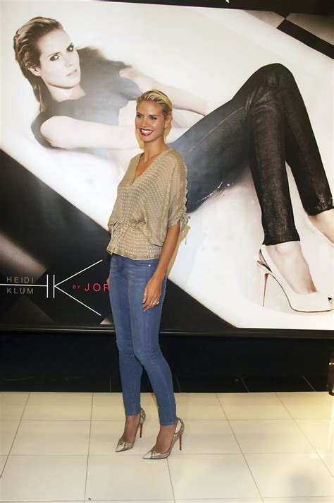 Heidi Klum Shows Post Baby In New Jordace Ads by Heidi Klum In Heidi Klum Promotes New Collection For