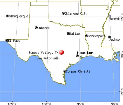 sunset texas map sunset valley texas tx 78745 profile population maps real estate averages homes