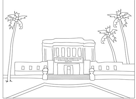 coloring pages lds temples mormon share mesa arizona temple coloring page