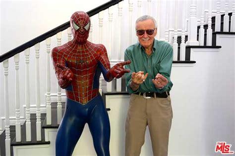 Spider Man Bed Stan Lee Lists 5 Million Bird Streets Home Celebrity
