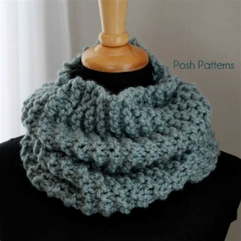 easy cowl knitting pattern easy cowl free knitting pattern posh patterns