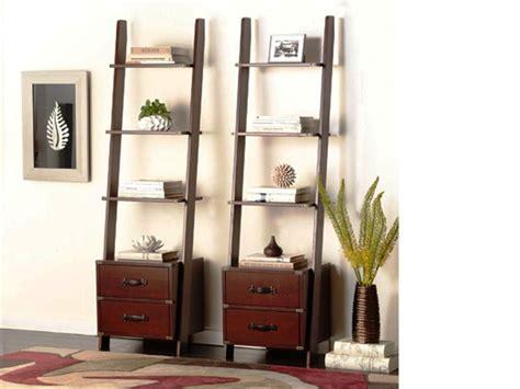leaning bookcase with drawers leaning ladder shelf leaning ladder shelf leaning ladder