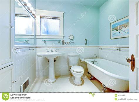blue tub bathroom blue antique elegant bathroom with white tub stock photos