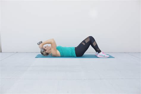 Skull Crushers On Floor by The 20 Minute Workout For Lean And Toned Arms Idealfit