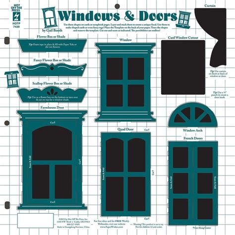 window templates for cards windows doors template by the press inc 4107439