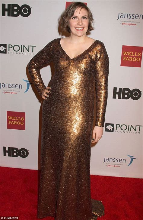 Dress Lena Ij 1 lena dunham wears plunging marc gown at point